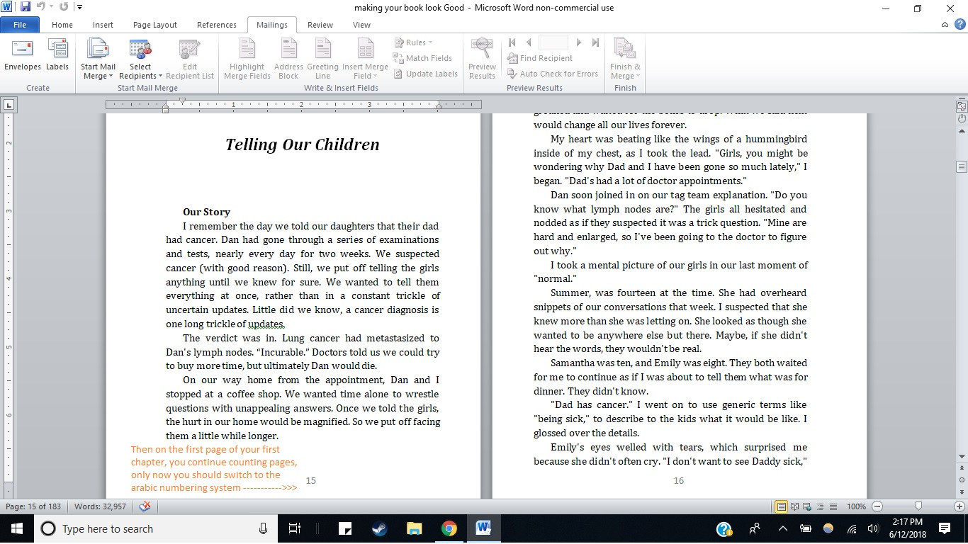 formatting: Making your book look good